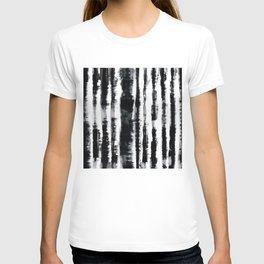 Tie-Dye Shibori Stripe BW T-shirt