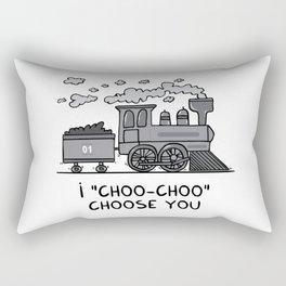 "I ""choo-choo"" choose you! Rectangular Pillow"