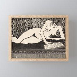 Nude Reading by Samuel Jessurun de Mesquita Framed Mini Art Print