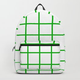 GRID DESIGN (GREEN-WHITE) Backpack