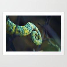 Camelon tail Art Print