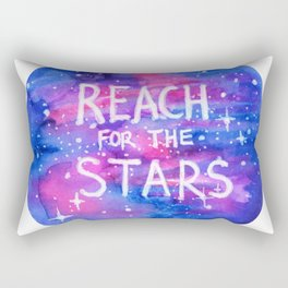 Reach For The Stars Galaxy Watercolor Rectangular Pillow