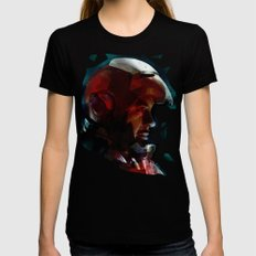 The Knight in the Shining Armour...  Womens Fitted Tee Black MEDIUM