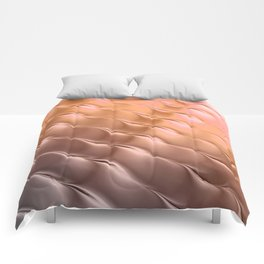Copper satin ripple Comforters