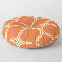 Ogee pattern Orange Burnt Floor Pillow