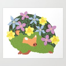 Spring Hedgehog Art Print