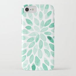 Watercolor brush strokes - aqua iPhone Case