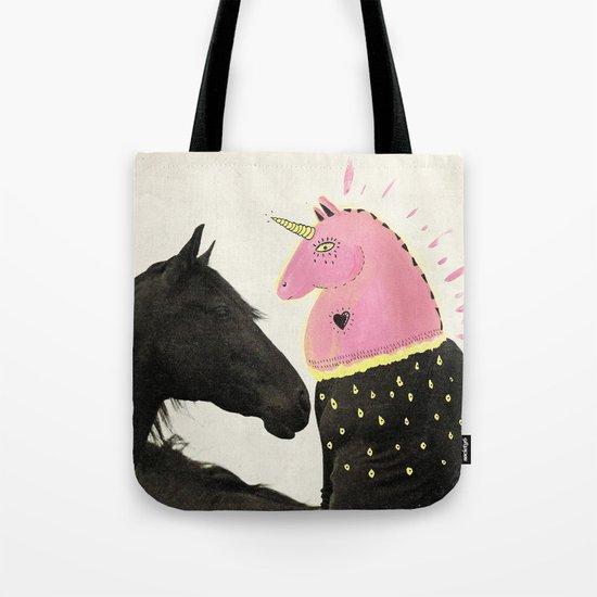 goodbye horses Tote Bag