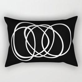 Mid Century Black And White Minimalist Design Rectangular Pillow