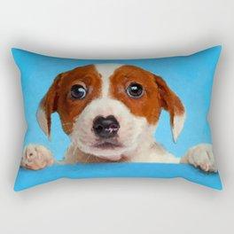 Cute Jack Russell Terrier Puppy Rectangular Pillow