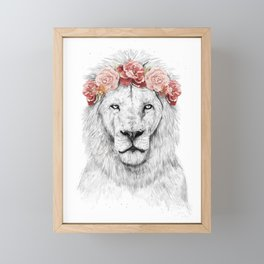 Festival lion Framed Mini Art Print