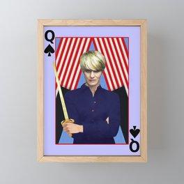 Claire - A Modern Lady Macbeth- Version 3 Framed Mini Art Print