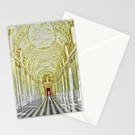 Gallery of Diana, Royal Palace of Venaria Reale, Turin Italy Portrait Painting by Jeanpaul Ferro Stationery Cards