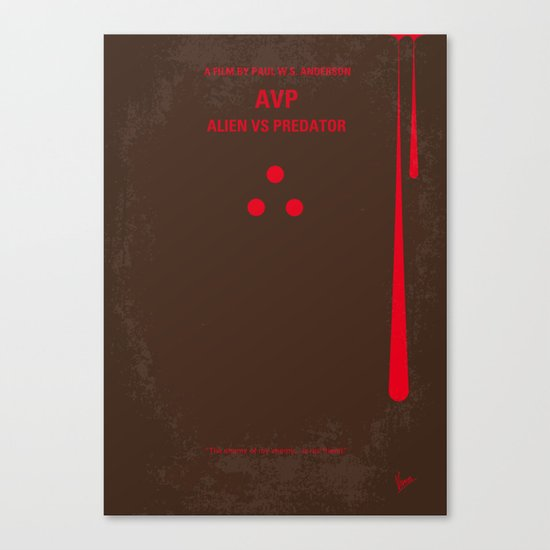 No148 My AVP minimal movie poster Canvas Print