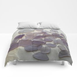 Genuine Purple Sea Glass Collection Comforters