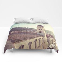 Belltower in Dubrovnik Comforters