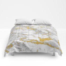 Gold Flecked Marble Comforters
