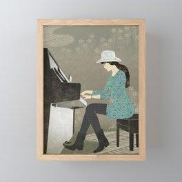 Piano Player Framed Mini Art Print