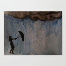 Watercolour: Broken Umbrella Canvas Print