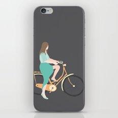Girl on a bike iPhone & iPod Skin