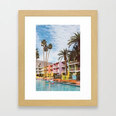 Palm Springs Pool Day VII Framed Art Print