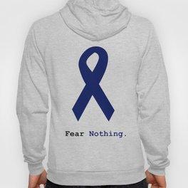Fear Nothing: Navy Blue Awareness Ribbon Hoody