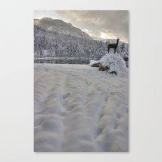 Snowy alpine lake Canvas Print