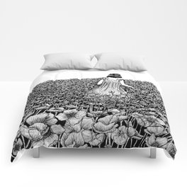 The Field of Poppies Comforters