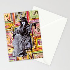 Guitarist in Time Stationery Cards