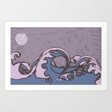 Midnight Ocean Art Print