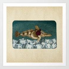 The Ice Fish Cometh Art Print