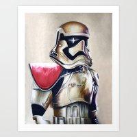 First Order Stormtrooper Art Print