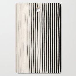 Black Vertical Lines Cutting Board