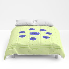 Flowers in Grass Comforters