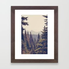 Mountains through the Trees Framed Art Print
