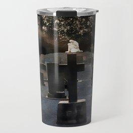 Gravestones and statue Travel Mug