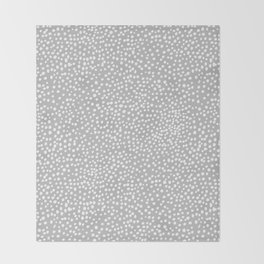 Little wild cheetah spots animal print neutral home trend cool gray black  Throw Blanket