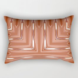 Art Deco Orange Spear Pattern Rectangular Pillow