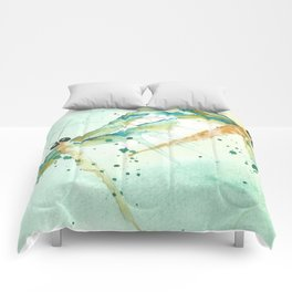 Dragon fly love Comforters