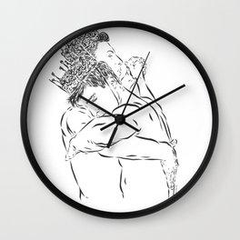 TWO KINGS DANCING Wall Clock