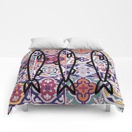 Azulejos Portugal sardine Comforters