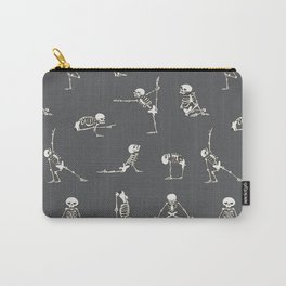 Skeleton Yoga_Gray Carry-All Pouch