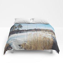 Frozen pond  Comforters