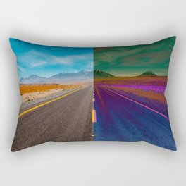 two-color road, border Rectangular Pillow