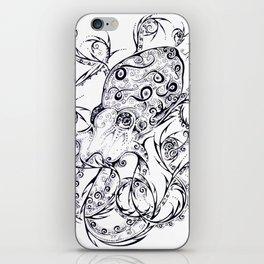 Calligraphy Octopus iPhone Skin