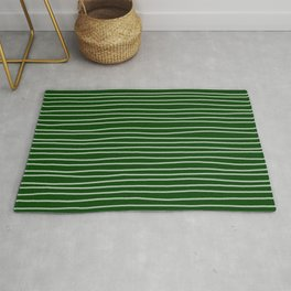 Forest Green Pinstripes Rug