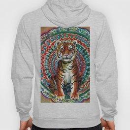 Tiger Watercolor Yoga Mandala Hoody