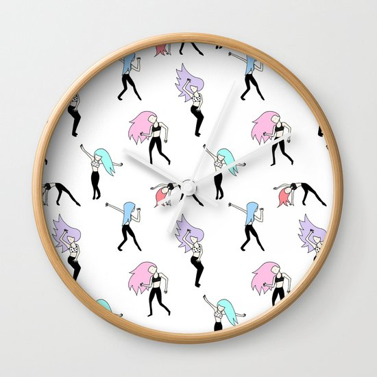 Dancing Girls Wall Clock