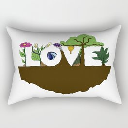 Love for Nature in Negative Space Rectangular Pillow