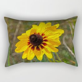Black Eyed Susan - Photo turned Digital Paint Rectangular Pillow